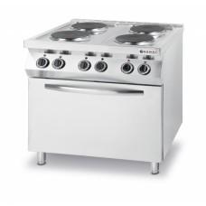 Плита электрическая 4-х конфорочная Kitchen Line с электрическим конвекционным жарочным шкафом GN 1/1