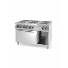 Плита электрическая 6-ти конфорочная Kitchen Line с электрическим конвекционным жарочным шкафом GN 1/1