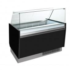 Витрина для мороженого - 1,56 x 0,67 м - черная ESTI15S-S