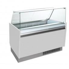 Витрина для мороженого - 1,56 x 0,67 м - белая ESTI15S-W