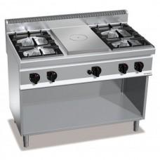 Газовая плита - 21 кВт + жарочная поверхность - 7 кВт