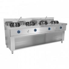 Плита WOG газовая, 4 конфорки - 56 кВт