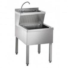 Раковина для мытья рук со сливом HWB57K