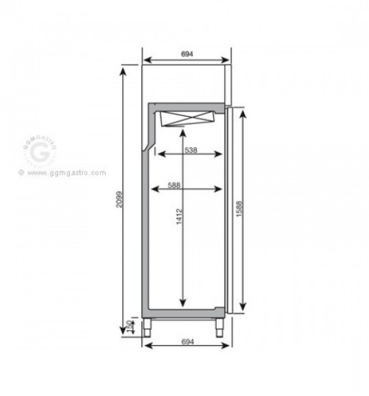 Холодильный шкаф - 745 л