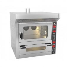 Печь для пиццы - 7 x 25 см + конвекционная печь - 4 уровня
