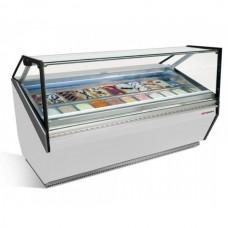 Витрина для мороженого - 1,87 х 1,11 м - белая ETI18W