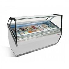 Витрина для мороженого - 1,25 х 1,11 м - белая ETI12W