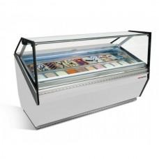 Витрина для мороженого - 1,56 х 1,11 м - белая ETI15W