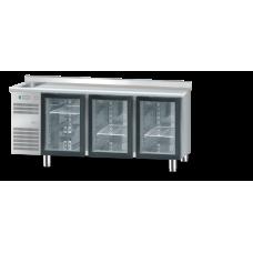 Холодильний стіл зі скляними дверима і раковиною DM-91006