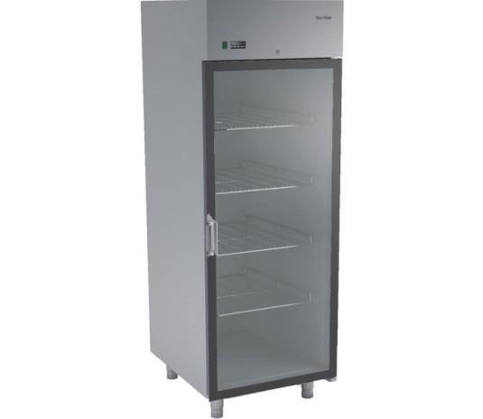 Холодильна шафа з нержавіючої сталі і скляними дверима DM-92102