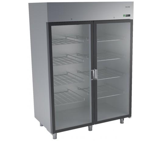 Холодильна шафа з нержавіючої сталі і скляними дверима DM-92109