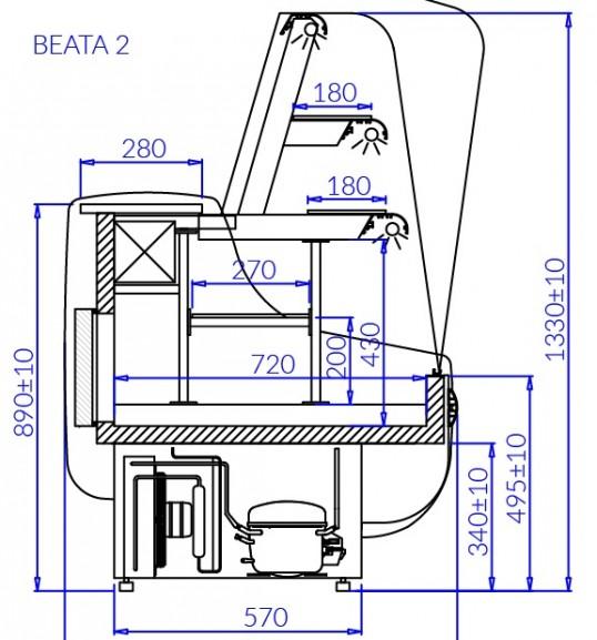 Вітрина кондитерська BEATA 2