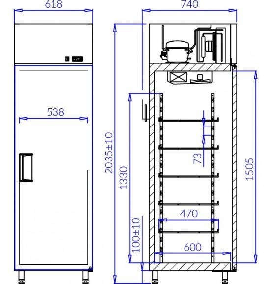 Холодильна шафа EWA P AG