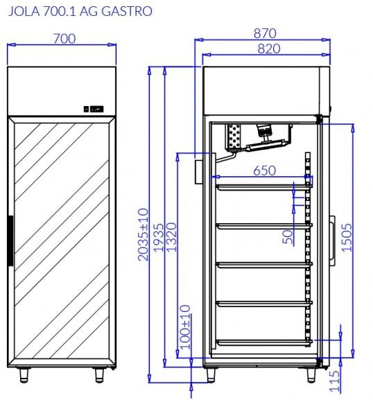 Холодильный шкаф JOLA 1 AG GASTRO