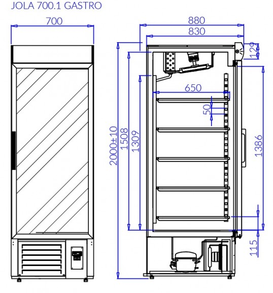 Холодильна шафа JOLA 1 GASTRO