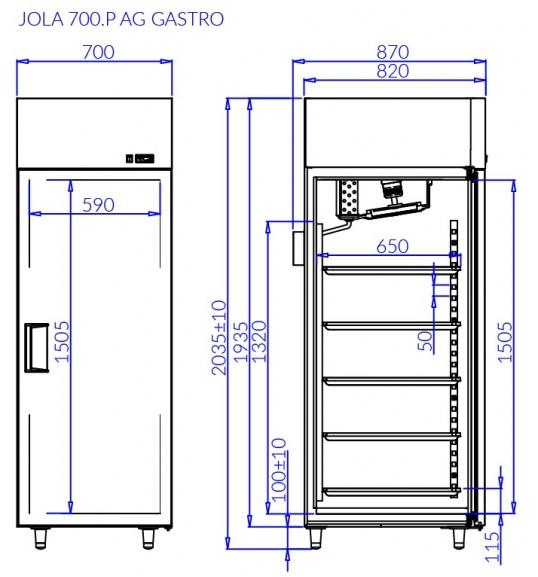 Холодильна шафа JOLA P AG GASTRO