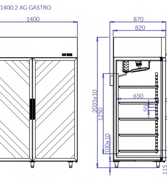 Холодильна шафа OLA 2 AG GASTRO