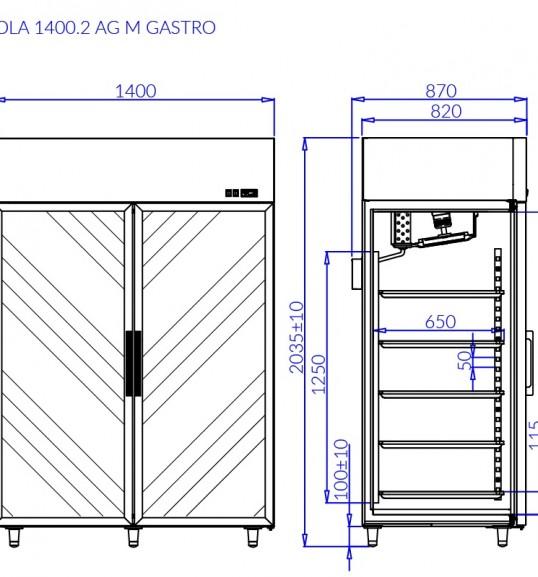 Морозильна шафа OLA 2 AG M GASTRO